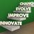 innovate improve evolve change steps 3d illustration stock photo © iqoncept