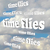 time flies words blue cloudy sky passing moments stock photo © iqoncept