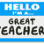 im a great teacher name tag school education learning stock photo © iqoncept