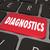 diagnostics word computer keyboard key find online solution prob stock photo © iqoncept