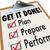 get it done clipboard checklist plan prepare perform stock photo © iqoncept