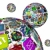 アプリ · アイコン · 球 · パターン · 多くの · スマートフォン - ストックフォト © iqoncept