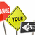 change your future stop direction road street signs 3d illustrat stock photo © iqoncept