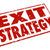 exit strategy words stamp escape way out plan stock photo © iqoncept
