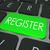 register computer keyboard key enroll enter store site stock photo © iqoncept
