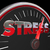 stress level rising speedometer gauge word 3d illustration stock photo © iqoncept