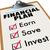 financial plan clipboard money saving strategy steps stock photo © iqoncept