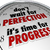 dont wait for perfection time progress clock message stock photo © iqoncept