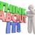 think about it person problem solving words 3d illustration stock photo © iqoncept
