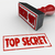 top secret stamped red grungy words secret private restricted in stock photo © iqoncept