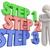 процесс · 3D · слов · инструкции · шаги · процедура - Сток-фото © iqoncept