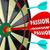 passion word desire focus dart board dedication commitment targe stock photo © iqoncept