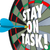 stay on task 3d words dart board complete job stock photo © iqoncept