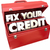 fix your credit score rating repair improvement red toolbox 3d w stock photo © iqoncept