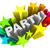 party word starburst colorful stars invitation fun event stock photo © iqoncept