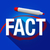 fact word long shadow circled red marker stock photo © iqoncept