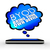 byod smart cell phone thought cloud bring your own device stock photo © iqoncept