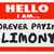 nametag hello i am forever paying alimony spousal support ex wif stock photo © iqoncept