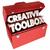 creative toolbox imagination ideas inspiration 3d words stock photo © iqoncept
