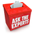 ask the experts question entry box submit help assistance tips a stock photo © iqoncept