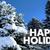 happy holidays christmas winter snow trees celebrate 3d illustra stock photo © iqoncept