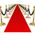 red carpet gold stanchions exclusive vip party event invitation stock photo © iqoncept