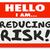 olá · responsabilidade · vermelho · adesivo - foto stock © iqoncept