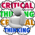 critical thinking system process thinker thought clouds stock photo © iqoncept