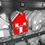 único · casa · em · pé · fora · casa · janela - foto stock © iqoncept