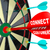 connect with customers dart hitting dartboard stock photo © iqoncept
