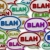 blah   speech bubble background stock photo © iqoncept