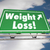 weight loss diet lose fat road freeway sign 3d illustration stock photo © iqoncept