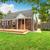 brick house exterior with walkout wooden deck stock photo © iriana88w