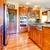 novo · cereja · madeira · americano · interior · da · cozinha · casa - foto stock © iriana88w