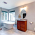 beautiful grey new modern bathroom interior stock photo © iriana88w