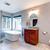 красивой · раковина · ванную · полотенце · цветок · домой - Сток-фото © iriana88w