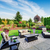 impressive backyard landscape design with patio area stock photo © iriana88w