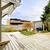 primavera · quintal · grande · convés · madeira · grama - foto stock © iriana88w