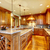 Luxury wood kitchen with granite countertop.  foto stock © iriana88w