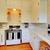 biały · kuchnia · beżowy · ściany · wiśniowe · drewnianej · podłogi - zdjęcia stock © iriana88w