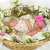 baby girl inside of basket with spring flowers stock photo © iriana88w