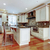 large white luxury kitchen with cherry hardwood stock photo © iriana88w