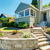 front yard landscape with stone trim house exterior stock photo © iriana88w