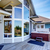 traditional back deck with tall windows and jacuzzi tub stock photo © iriana88w