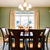 green dining room interior with classic brown furniture stock photo © iriana88w