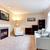 エレガントな · 現代 · アメリカン · リビングルーム · インテリア · 暖炉 - ストックフォト © iriana88w