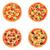 ピザ · セット · 孤立した · 異なる · イタリア語 · キノコ - ストックフォト © Irinka_Spirid