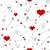 Rood · hart · teken · zwarte · lijn - stockfoto © irinka_spirid