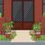 парадная · дверь · лестницы · цветы · вход · красивой · двери - Сток-фото © Irinka_Spirid
