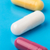 three multi colored pills stock photo © ironstealth